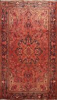 Vintage Geometric Hand-knotted Area Rug Traditional Oriental Wool Carpet 9'x11'