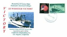 WOOSTER VICTORY Ship named for The College of Wooster in Ohio, Color Handstamped