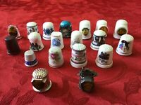 Souvenir Sewing THIMBLES - Assorted lot of