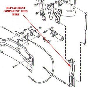 Volvo C70 convertible top bonnet lid arm permanent repair solution new part LH