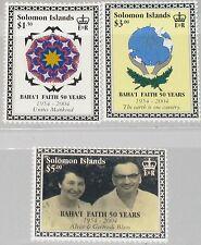 SOLOMON SALOMON ISL. 2005 1206-08 996-98 50 Ann Bahai Region Religion MNH