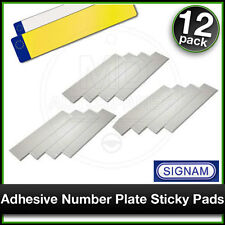 SIPLAS Car Number Plate STICKY PADS Heavy Duty Adhesive x 12 Pack