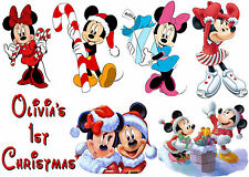 Christmas Minnie Mouse Iron On Transfers Ideal to Create Baby bibs / vests