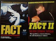 FACT 1 & 2 SET  POLICE CONTROL TACTICS & STREET GRAPPLING / BOXING SELF DEFENSE