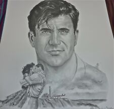 MEL GIBSON! HOT! Artist HAND Signed LITHO GIVE with COA