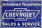 Chevrolet Chevy Sales Service Shop Garage Sign Truck Vintage Collector Antique
