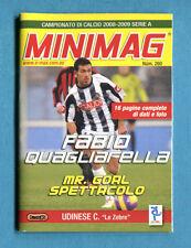 MINIMAG 2008-2009 N. 260 - F. QUAGLIARELLA - UDINESE