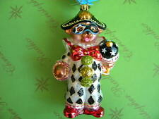 Christopher Radko Teddy Masquerade Glass Ornament