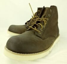 American Eagle Outfitters Mens Boots Ankle US 12 Brown Leather Lace Casual 6101