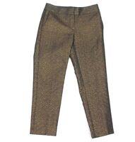 Ann Taylor Petites size 00P Marisa Pants Gold Black with hint of Blue - 225
