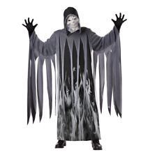 NWT TOTALLY GHOUL ADULT MEN'S SOUL TAKER GRIM REAPER HALLOWEEN COSTUME 40-42