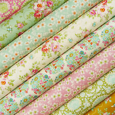 Tilda Bumblebee Lane Fabric Scrap Pack / quilting bee pink teal floral rabbit