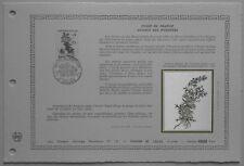 Document Artistique DAP 583 1er jour 1983 Aconit des Pyrénées Flore de France