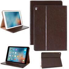 Premium Leder Cover für Apple iPad 2/3/4 Tablet Schutzhülle Case Tasche braun