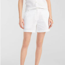 NWT TOMMY BAHAMA WOMEN Sz6 THE EYELET PARTY COTTON SHORT WHITE $110.