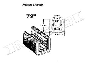 Flexible Glass-Run Channel Fits:1933-1963 Chevrolet Truck and many more