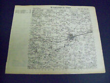 WAKEFIELD  TOWNSHIP PLAT MAP 1925 STEARNS COUNTY MINNESOTA