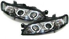 Clear chrome projector headlights with angel eyes for Opel Vectra B 95-99