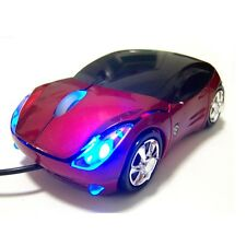 Regalo USB Kart III Extremo Carrera Óptico Portátil PC COCHE Ratón Scroll RED UK