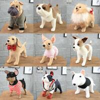 "12"" Lifelike Cute Dog Plush Toy Stuffed Doll Bulldog Hound Shar Pei Chihuahua"