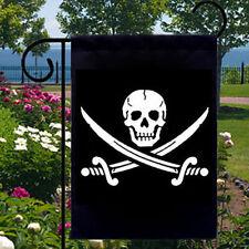 Pirate Skull & Crossbones New Small Garden Yard Flag Decor Events Parties Boats