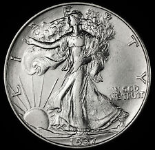 1937-p Walking Liberty Half.  A.U.(Inv.A)