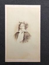 Victorian Carte De Visite CDV: Turners Photo Studio: Lady Bonnet Ringlets 2 of 2