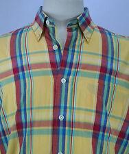 VTG 80's Men's Chaps Ralph Lauren Button-Down S/S Shirt Size M Preppy! EUC