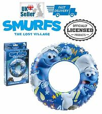 Smurfs The Lost Village Kids Swim Inflatable Swimming Ring Official Merchandise