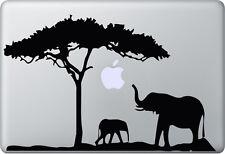 Apple MacBook Air Pro + ELEFANT + Aufkleber Sticker Decal Skin + Afrika Africa