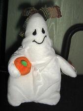 TY Beanie Baby GHOULIANNE White Fabric HALLOWEEN Bean Bag RETIRED