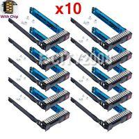 "10Pcs 2.5"" 651687-001 SFF SAS HDD Tray Caddy For HP Proliant DL380p G8 w/IC Chip"