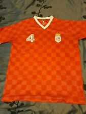 Mens Large Stussy Soccer Jersey Style Shirt Red Checkered #4 Europe rugby Euc