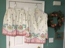 Women's Vintage F.L. Malik 2 Piece Outfit Blazer & Shorts Size Medium 12 (CON6)