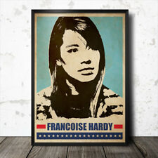 Francoise Hardy Pop Art Poster música francés Serge Gainsbourg Anna Karina
