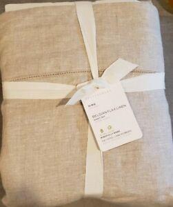 NEW Pottery Barn Belgian Flax Linen King Sheet Set, 4 Pieces Set -Flax