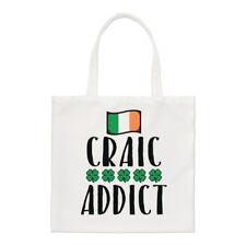 CRAIC ADDICT Pequeño Bolso de mano - Divertido Irlanda Irlandés Tiras BANDERA