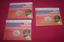 Lot 3 (6) Jac-O-Net Light Mirage Invisible Hair Nets Light Brown/Blond Hair #146