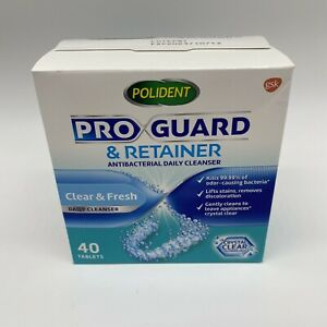 Polident Pro Guard Retainer Antibacterial Daily Cleanser 40 Tablets Pack