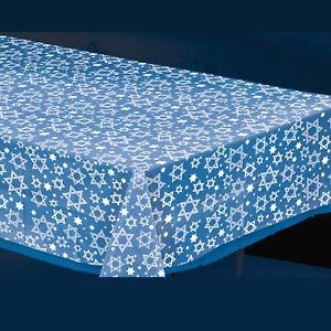 Hanukkah Plastic Tablecover - hanukkah Party Supplies Clear Star of David Design
