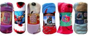 Disney Kids Cartoon Characters Children Soft Fleece Blanket / Throw