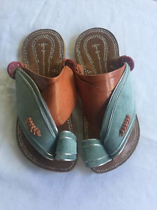 Leather Sandals Handmade Leather Sole Conductive for Earthing Grounding Arabia