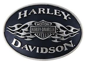 Harley-Davidson Lodis Black Flame Buckle Gürtelschnalle