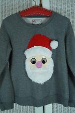 "Holiday Sweatshirt Father Christmas / Santa Claus S 37"" Bust Novelty Shirt Top"