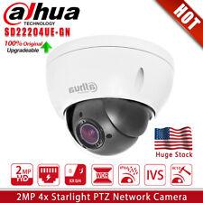 US Dahua Original IVS 2MP 4X Zoom Starlight PTZ Security IP Camera SD22204UE-GN