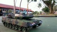 New 2.4G RC 1:16 Heng Long Leopard 2A6 Airsoft Tank Somking Remote Control Tank