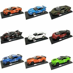 Maisto Special Edition Metal Diecast 1/18 Model Cars - 33 Variations - 4/4/2021