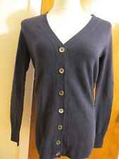 C by Bloomingdale s Womens Cashmere Button-front Cardigan Dark Navy S  Regular f06e4c25a