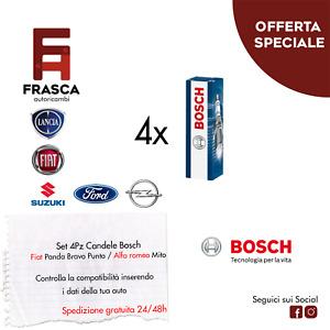 Candele Fiat Doblo' 1.4 Idea 1.2 16V Marea 1.2 Palio 1.2 73 Cv BOSCH 0242135515