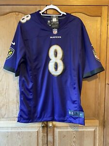 NFL Ravens Jackson 8 Jersey Size L